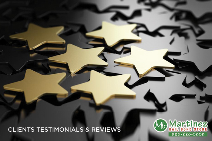 Bail Bonds in Martinez Testimonials and Reviews